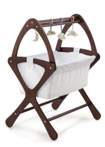 Classic Bassinet with Activty Gym Mahogany